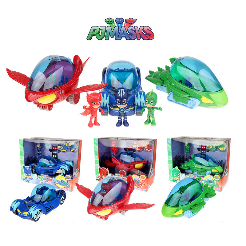 PJ Masks Toys Set Catboy Gekko Owlette Exclusive Car Toy Pj Mask PVC Action Figures Cat Car Toys For Children Birthday Gifts