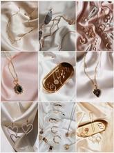 Fondo fotográfico de seda Artificial, tela mercerizada para estudio fotográfico, sesión de fotos, artículos de fotografía para joyería de anillo cosmético