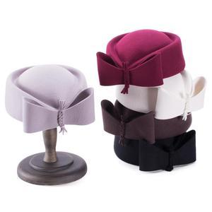Image 3 - Teardrop Women Hats Vintage Look Pillbox Fascinator Hat Top Fancy Wool Felt Hat Cocktail Racing Party Wedding Church A253