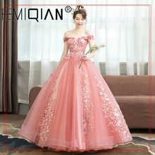 Ball-Gown Quinceanera-Dresses Party Plus-Size Off-The-Shoulder 10-Colors Embroidery Prom-Lace