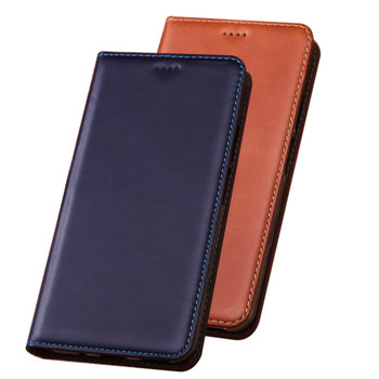 Natural leather wallet phone case card pocket for Asus Zenfone 6Z ZS630KL/Zenfone 5Z ZS620KL flip cover cases magnetic coque