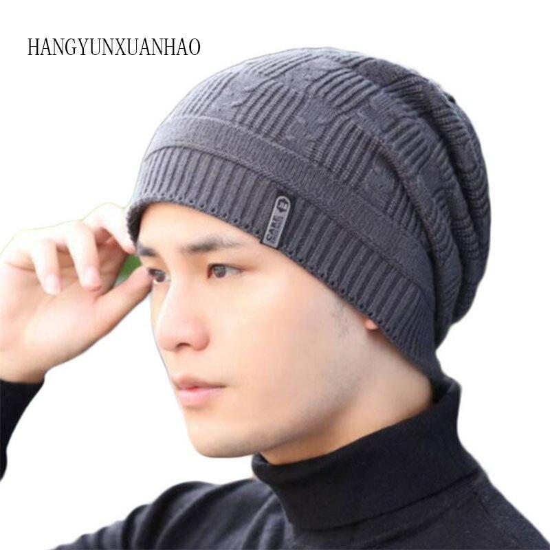 Knitted Hat Men Winter Beanie Caps Women Warm Pants Wool Mask Blalaclava Hats Beanies For