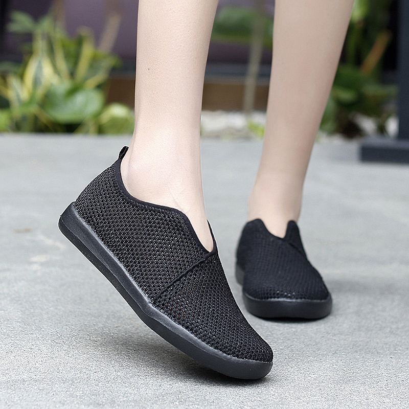 Breathable Black Sneakers Women Shoe