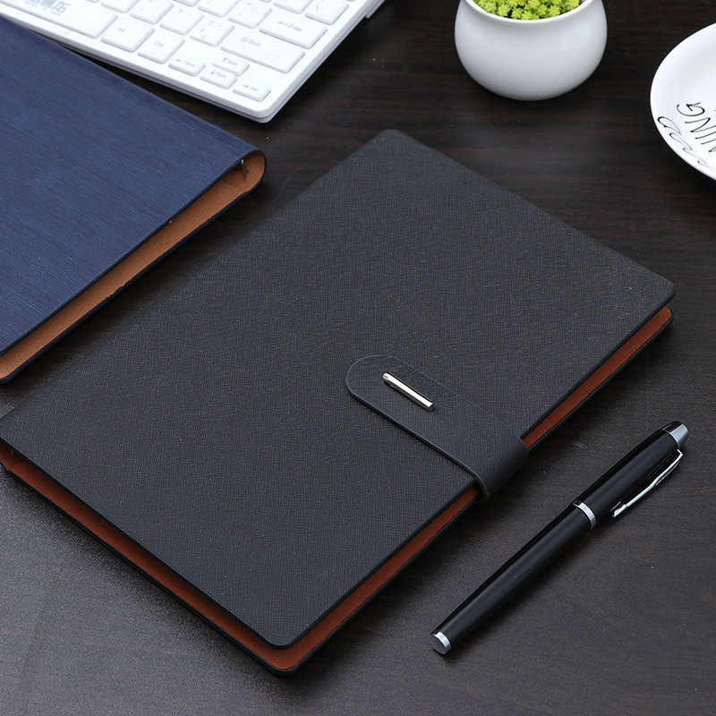 Notebook A5 Business Kantoor Gift Metalen Knop Pagina Notebook Studie Meeting Gift Dagboek Note