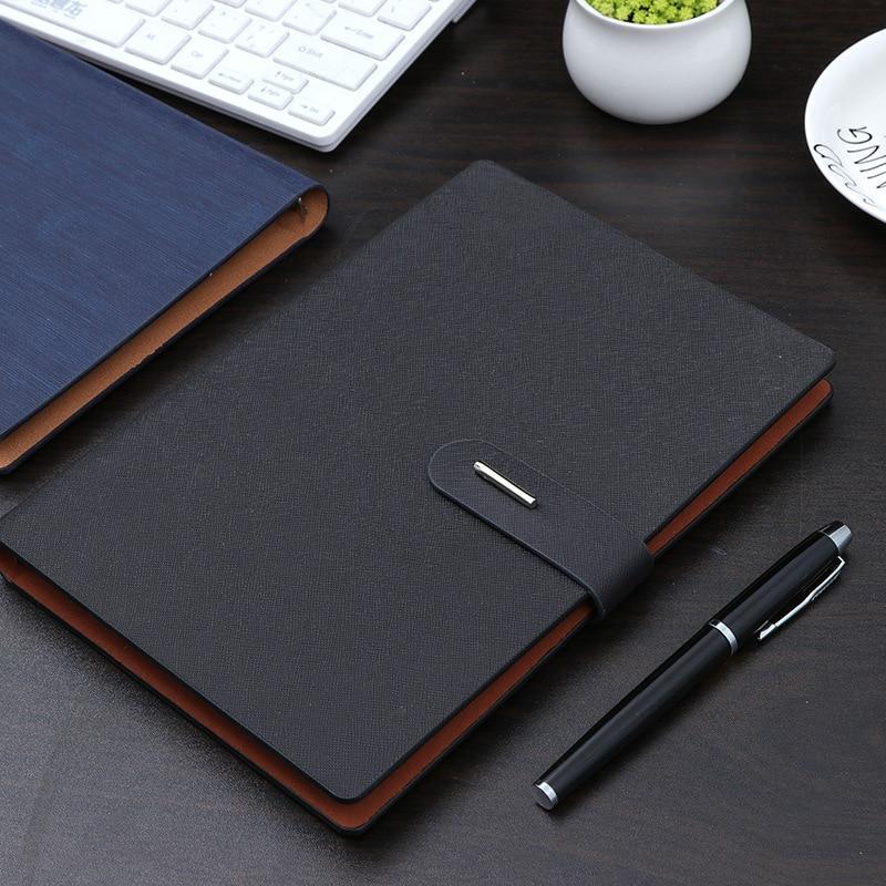 Ноутбук A5 Бизнес офис подарок металлическая кнопка Страница Блокнот исследование для совещаний Подарочный дневник|Планировщики|   | АлиЭкспресс