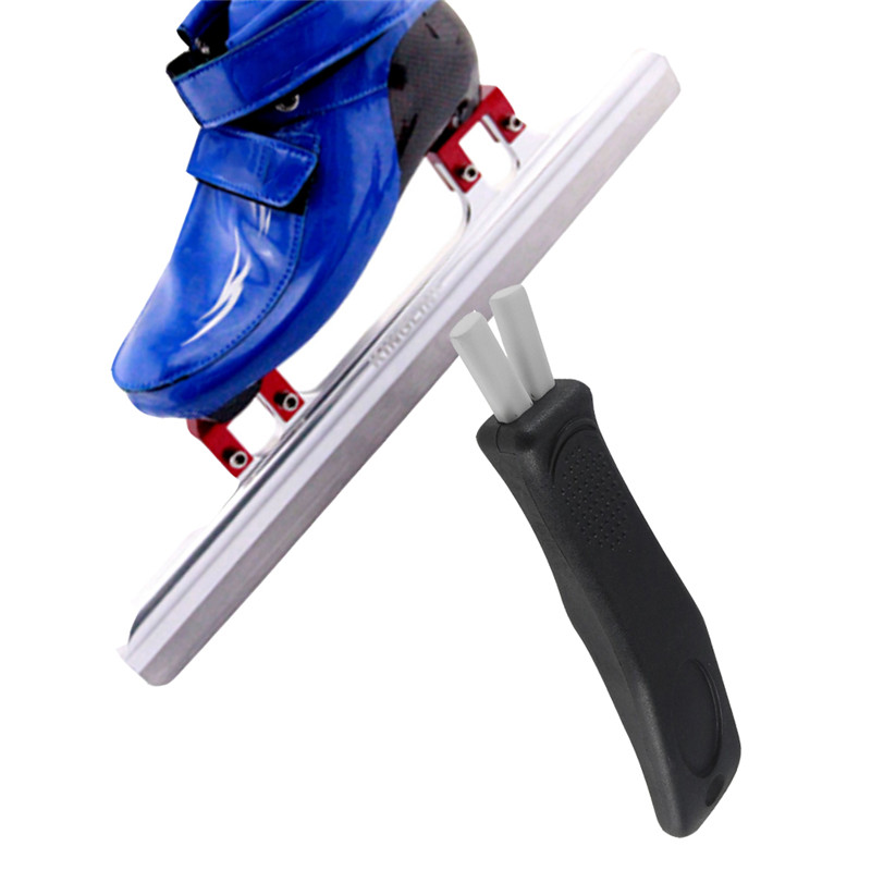 Skate Sharpener For Ice Hockey Skate Works For Figure Skates Player Skate And Goalie Skates Nylon Ceramic Oil Stone