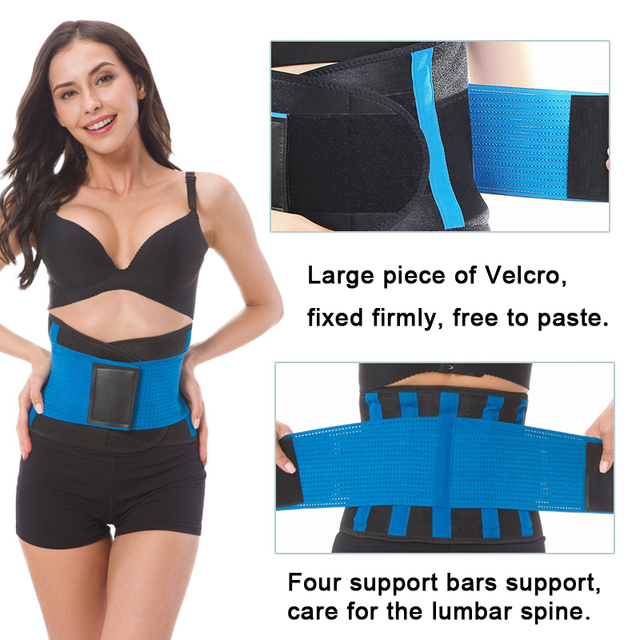 Bodybuilding Belt Women'S Sports Brace Lower Back Waist Trainer Body Shaper Belts Sweat Slim Support Lever Weightlifting Belt 2