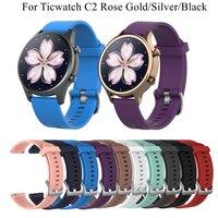 Cinturino in Silicone 18mm 20mm per Ticwatch C2 Smartwatch cinturino versione oro rosa/argento/nero per accessori Ticwatch C2