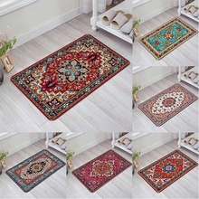Дверной коврик в персидском стиле, нескользящий ковер для кухни, гостиной, коврик для входной двери, ванной комнаты, комнатный декоративный ...