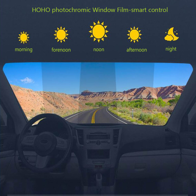 Window Tint Smart Photochromic Light Control Film Window Film 45%-75%VLT Heat Proof Solar Tint 152cmx50cm 1