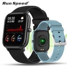 P8 Bluetooth Smart Uhr Full Touch Screen Fitness Tracker Herz Rate Schlaf Monitor 1,4 zoll IP67 Wasserdicht Männer Frauen Sport band