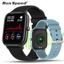 P8 بلوتوث ساعة ذكية شاشة تعمل باللمس الكامل جهاز تعقب للياقة البدنية معدل ضربات القلب النوم مراقب 1.4 بوصة IP67 مقاوم للماء الرجال النساء الرياضة الفرقة