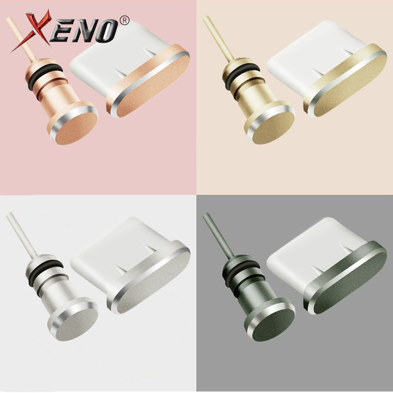 cellular accessory plug Type-C Dust Plug USB Charging Port Protector matel Dust Plug for Samsung Huawei Smart Phone Accessories