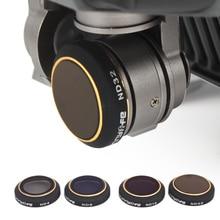 SUNNYLIFE 4 шт. фильтр покрытие объектива ND4 ND8 ND16 ND32 уменьшенный светильник набор аксессуаров коробка для хранения для DJI Mavic Pro RC аэрофотосъемка