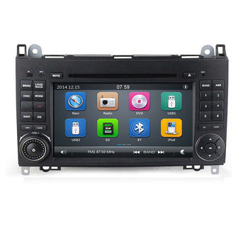 AutoRadio 2 Din Car Multimedia DVD Player For Mercedes Sprinter Benz B200 Viano Vito W639 W169 W245 W209 GPS Navigation Audio 4G image
