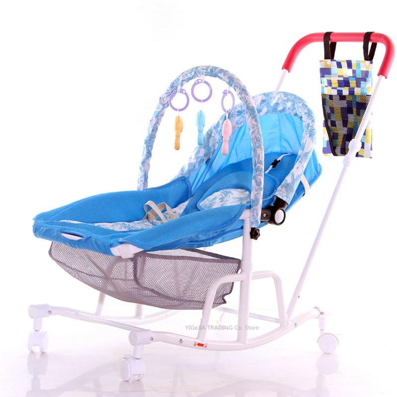 2 in 1 Baby Rocking Stroller, Baby Stroller Change to Baby Rocking Chair, Lightweight Baby Stroller Rocker Baby Comfort Chair