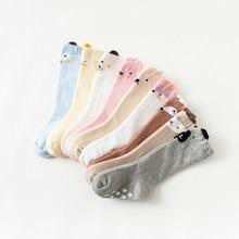 2019 Winter Socks New Children Socks Cartoon Baby Hosiery Cotton Newborn Long Canister Overknee Socks Baby Non-slip Warm Socks цена в Москве и Питере
