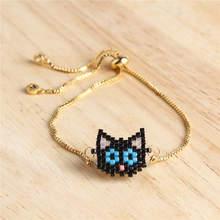 Shinus 5Pcs/lot Miyuki Beads Bracelet Women Black Cat Joyeria Animal Pulseras Mujer 2019 Child Girl Jewelry Gold