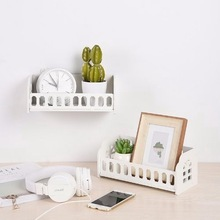 Dormitory-Shelf Wall-Shelf Bedside Storage Bedroom Minimalist Nordic-Style Flower-Basket