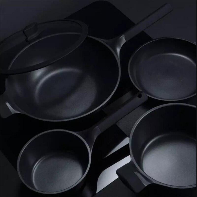 Xiaomi Huohou NonStick Super Platinum Frying Pan Wok Stockpot Milk Pan Durable Easy To Clean High Temperature Reminder Kitchen