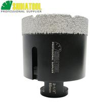 цена на 65mm (2-1/2) Vacuum brazed diamond Dry drilling bits Coated diamond drill core bits for granite marble tile 5/8-11 connection
