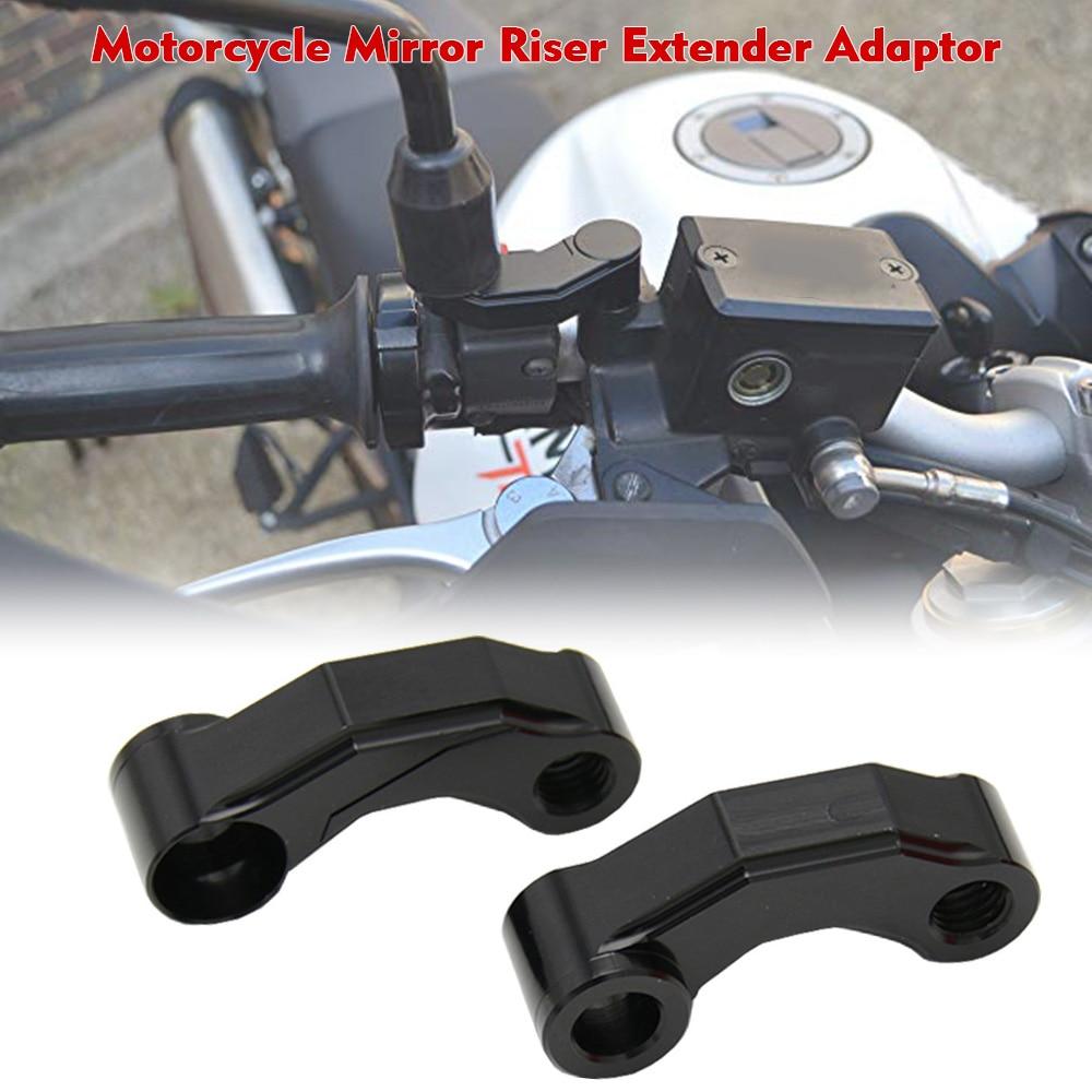 Universal Pair Motorcycle Mirror Riser Extenders Spacers Extension Adapter Adaptor Artudatech Motorcycle 10M Rear View Mirrors Extension Adapte