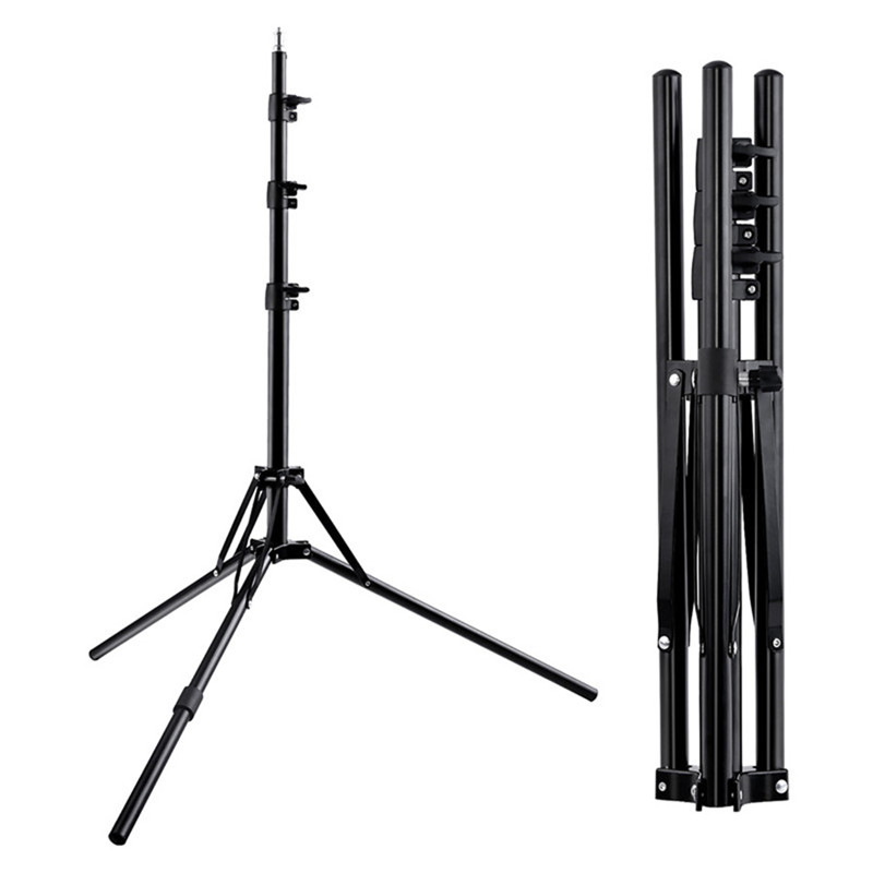Fosoto Led Light Tripod Stand &1/4 Screw Portable Head Softbox For Photo Studio Photographic Lighting Flash Umbrellas Reflector