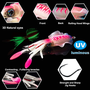 Sunmile fishing soft squid lure 20