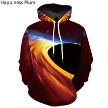 Brand Space Galaxy Sweatshirts men Black Hole Hoody Anime Swirl Hoodie Casual Nebula Print Flame Hoodies 3d