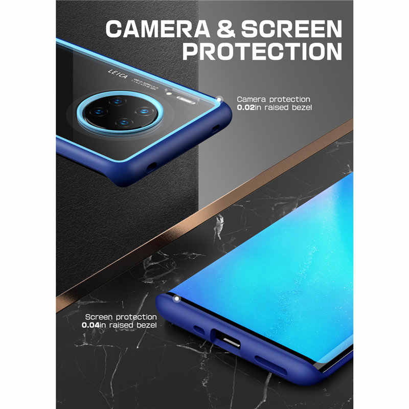SUPCASE dla Huawei Mate 30 Pro (2019 Release) UB styl Anti-knock Premium Hybrid ochronna TPU zderzak PC przezroczysta tylna pokrywa