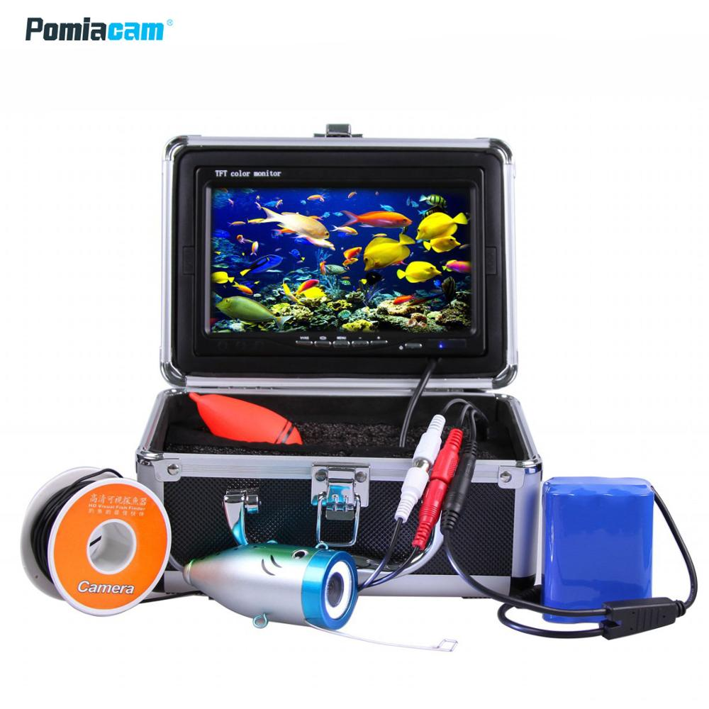 Video Fish Finder Underwater Ice/Fishing Camera 20M 30M 40M 50M  700TVL 7'' Digital LCD Monitor LED Light Control