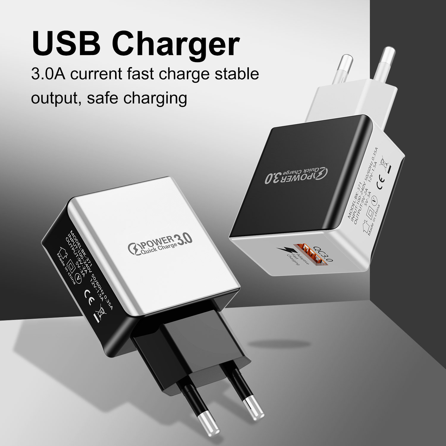 Lovebay QC3.0 Fast Charger 3A Quick Charge USB Charger EU/US Wall Charger Phone Charger For IPhone Samsung Xiaomi Fast Charging