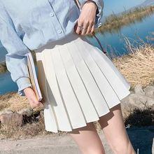 Mini Skirts Black White Short Girls Fashion Cute Sweet Female Pleated Dance Cosplay