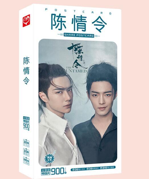 900 Pcs MXTX Chen Qing Ling Postcard Adaptation From Mo Dao Zu Shi Pictures Of  Wang Yi Bo And Xiao Zhan