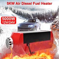 5KW 12V/24V Car Truck Air Diesel Fuel Heater Metal Parking Electric Heating Cooling LCD Monitor Thermostat For RV Trailer Boats