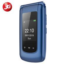Ushining Uleway 3G Mobile Flip Phone Feature Phone Dual Screen Dual SIM Unlocked Senior Phones Big Button Easy to Use Phone