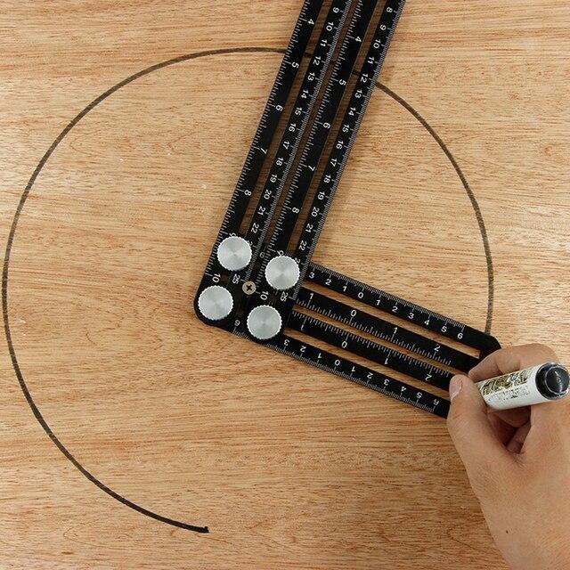 2019 budowa wielu kąt linijka miernicza aluminium składane pozycjonowanie linijka profesjonalne DIY płytka drewniana podłoga narzędzie