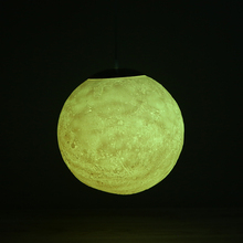 3D Printing 16 Colors/Nordic LED Moon Chandelier Ball Modern LED Lamp Bedroom Dining Room Lighting Decor Hanging Fixtures