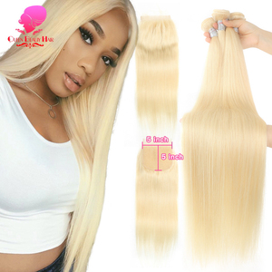 28 30 inch Honey Blonde Brazilian Straight,Virgin Human Hair,Extension,3 Bundle 100 with Free Part Lace Closure Pre Color(China)
