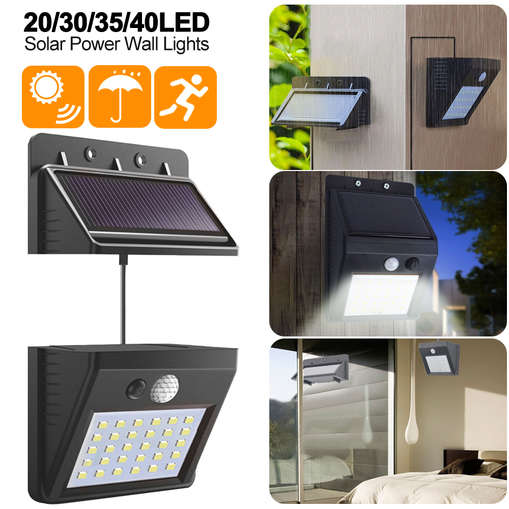 DIDIHOU Separable Solar Panel Outdoor LED Wall Lamp Motion Sensor/Night Sensor Solar Light For Garden Night Light #1108