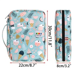220 Slots Large Capacity Pencil Bag Case Organizer Cosmetic Bag For Colored Pencil Watercolor Pen Markers Gel Pens Great Gifts