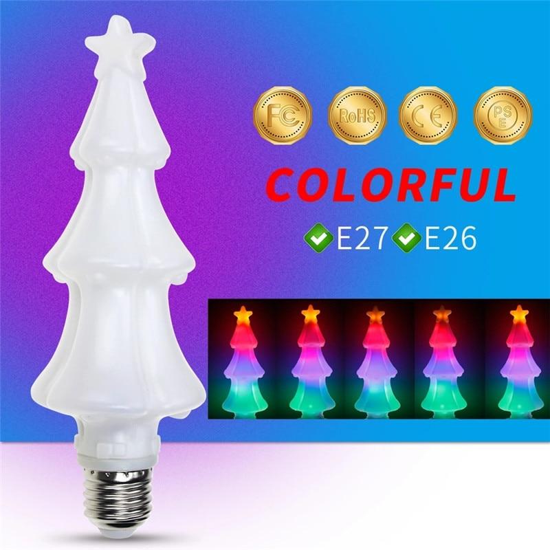Рождественская елка, солевая лампа, светодиодный светильник с пламенем, лампа E27, светодиодный светильник с мерцающим эффектом