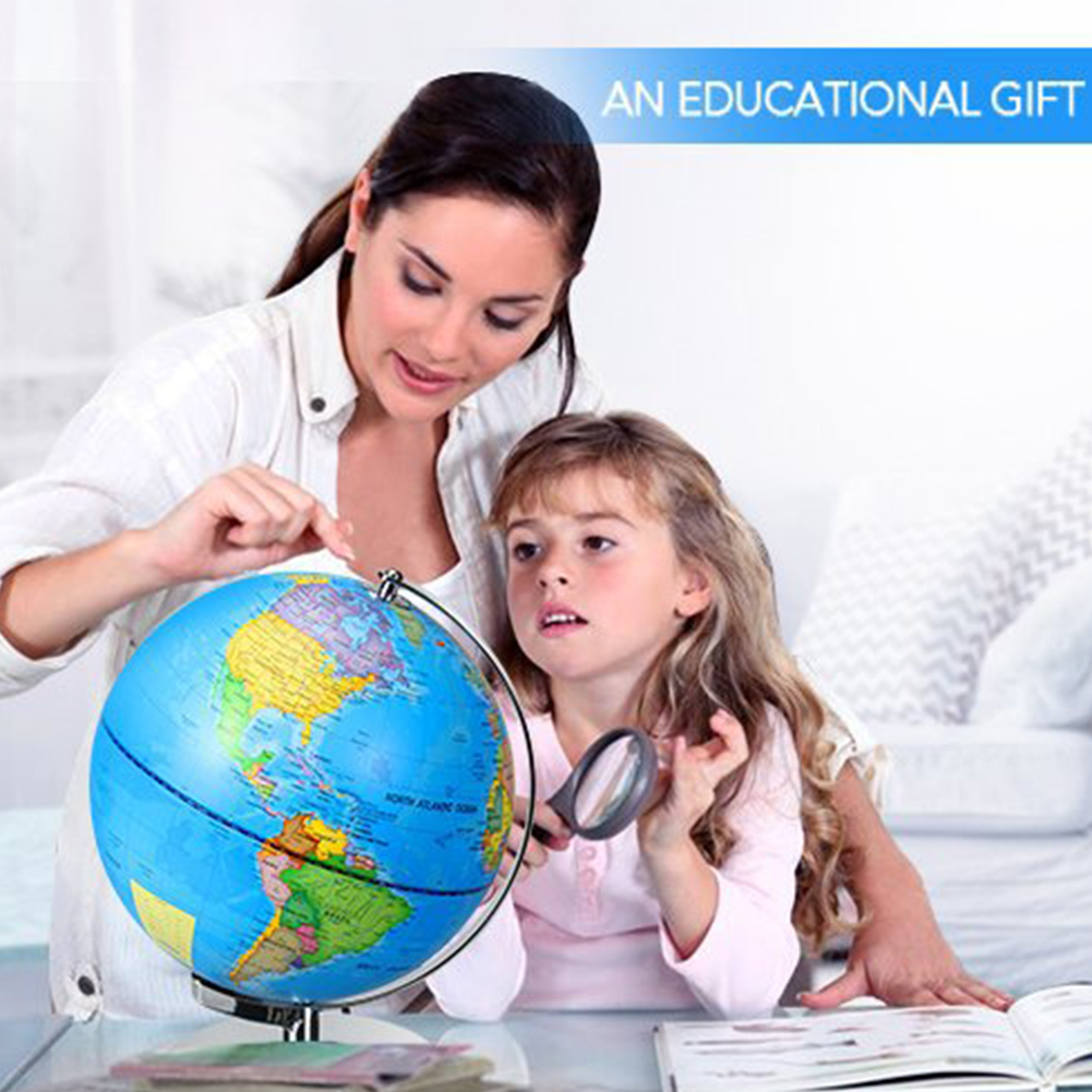 Земной шар, товары для школы, обучающая игрушка, светодиодный светильник, карта мира, USB питание, детский подарок, украшение для рабочего стола