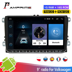 AMPrime Android Car Multimedia Player GPS Navigation 2 din Autoradio 2din Stereo MP5 Car Radio For Volkswagen Passat Golf5/6 MK5