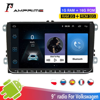 AMPrime Android Car Multimedia Player GPS Navigation 2 din Autoradio 2din Stereo MP5 Car Radio For Volkswagen Passat Golf5/6 MK5 image