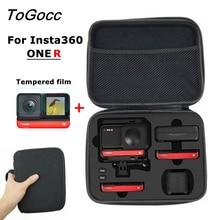 תיק נשיאה שקית אחסון עבור Insta360 אחד R מצלמה סוללה מטען חצובה אביזרי מסך מגן סרט