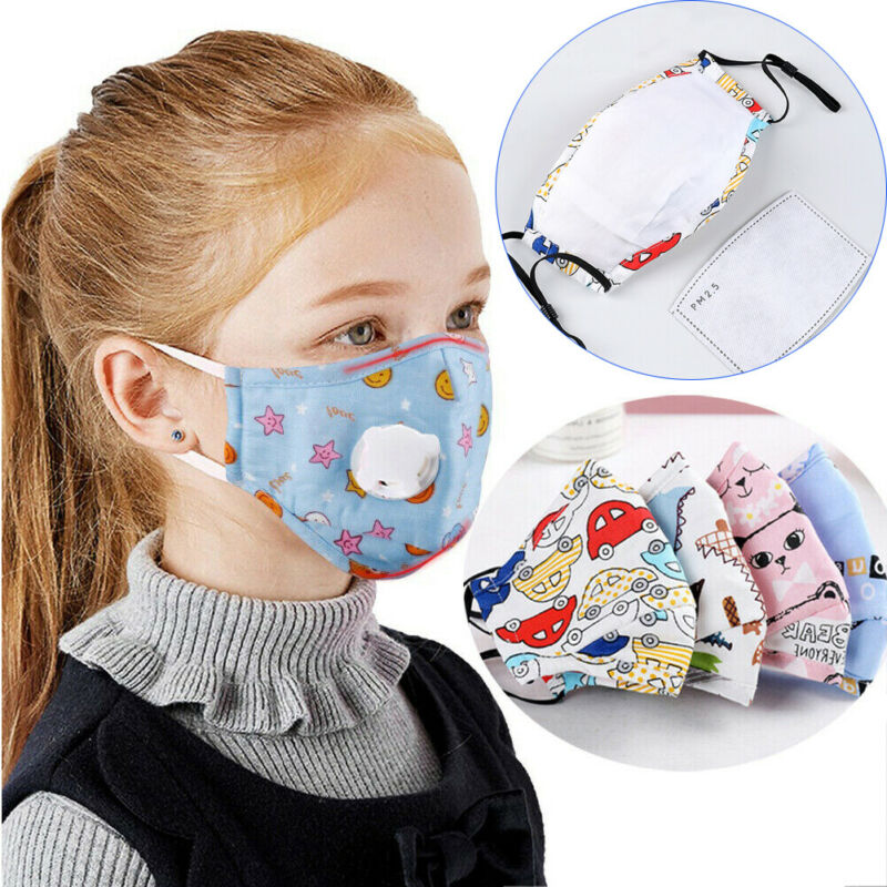 NEW 2020 Baby Kids Mask Antibacterial Anti Haze Dust Protection Face Cover With Air Valve
