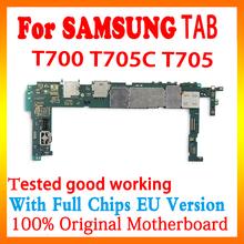 Oryginalna płyta główna dla Samsung Galaxy Tab S 8 4 T700 T705C T705 WIFI elektroniczna tablica logiczna pełna praca odblokuj płytę główną tanie tanio Wewnętrzny for Samsung Galaxy Tab T700 T705C T705 Android Whole Completed Motherboard Used and Good Working Full QC Tested