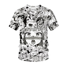 New T-shirt Anime 3D Printing Men Women Streetwear Lolita Anime O Neck Hip Hop T-shirt Harajuku Casual Top Sexy Girl Clothes