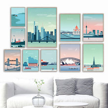 London Sydney Venice Wien Ftrankfur City Wall Art Canvas Painting Nordic Posters And Prints Wall Pictures For Living Room Decor